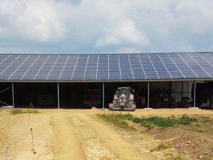 Hangar solaire 720m2 100kWc Loire-Atlantique