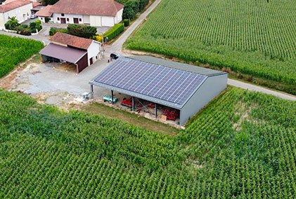 hangar solaire de 576m2