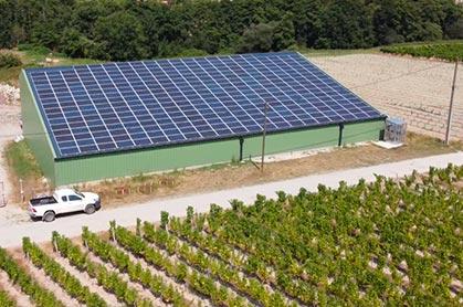 hangar solaire notre