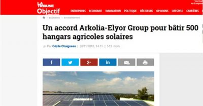 Accord Arkolia ELYOR GROUP 500 Hangars